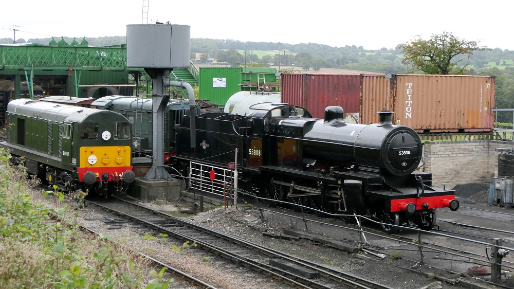 No. 53808 seen in the yard at Ropley on 27 August 2020.