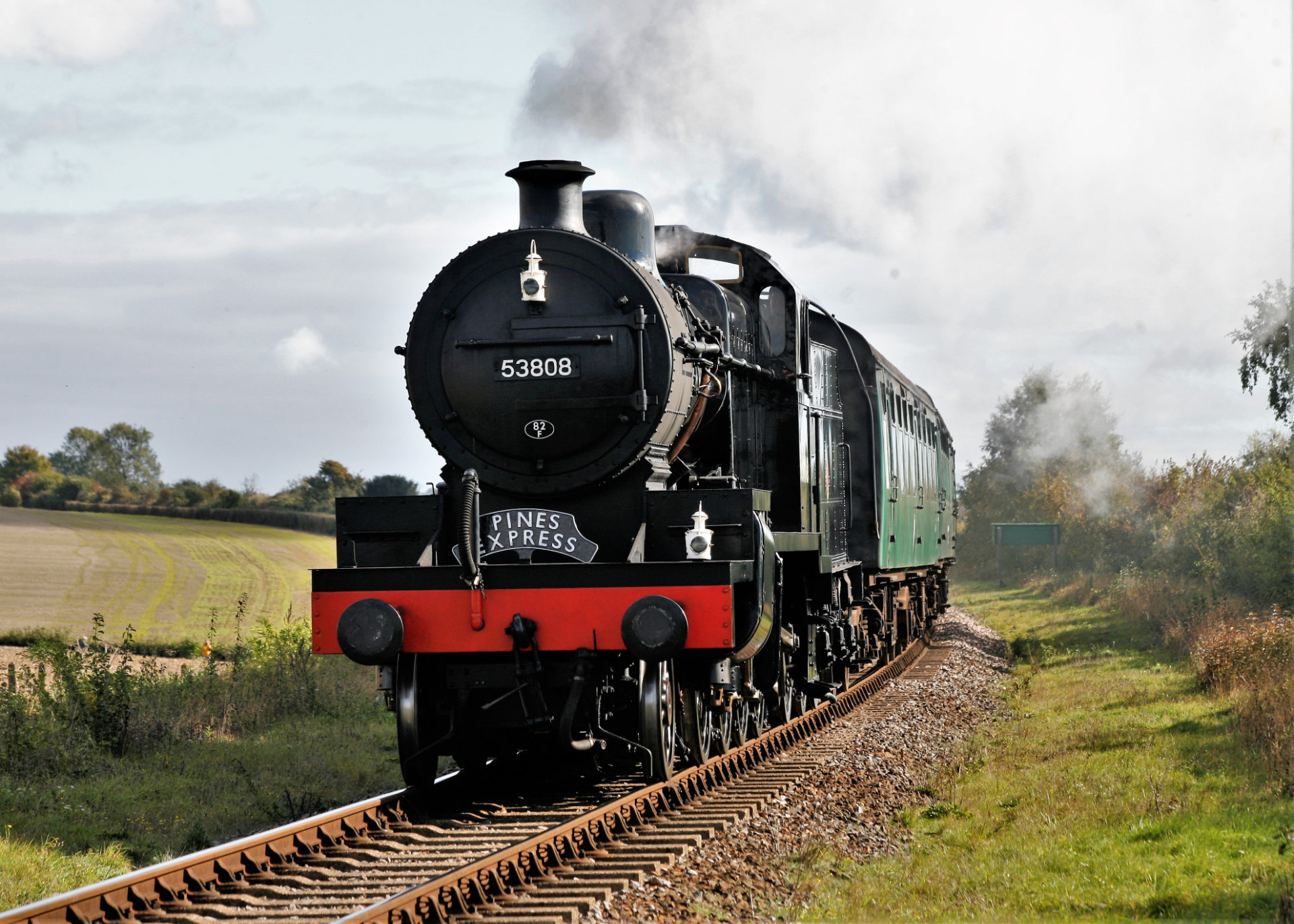53808 on the Watercress Line, 16 October 2020.