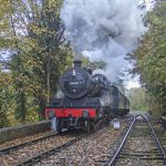 Starting to look autumnal as 53808 heads away from Alton on 25 October