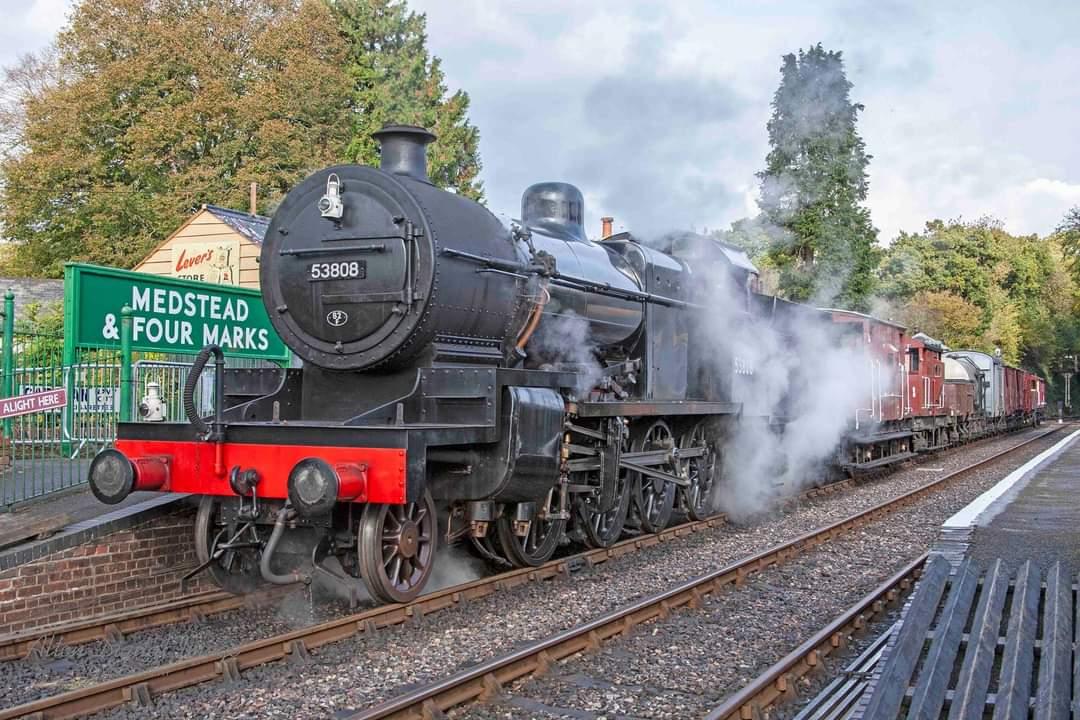 53808 at Medstead and Four Marks station on 14 October