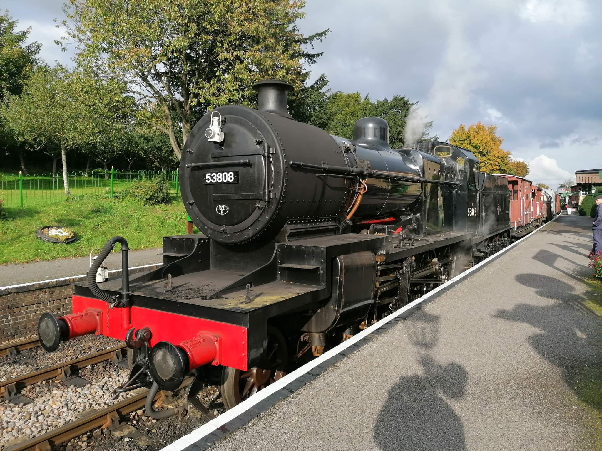 53808 at the platform at Ropley on 14 October.
