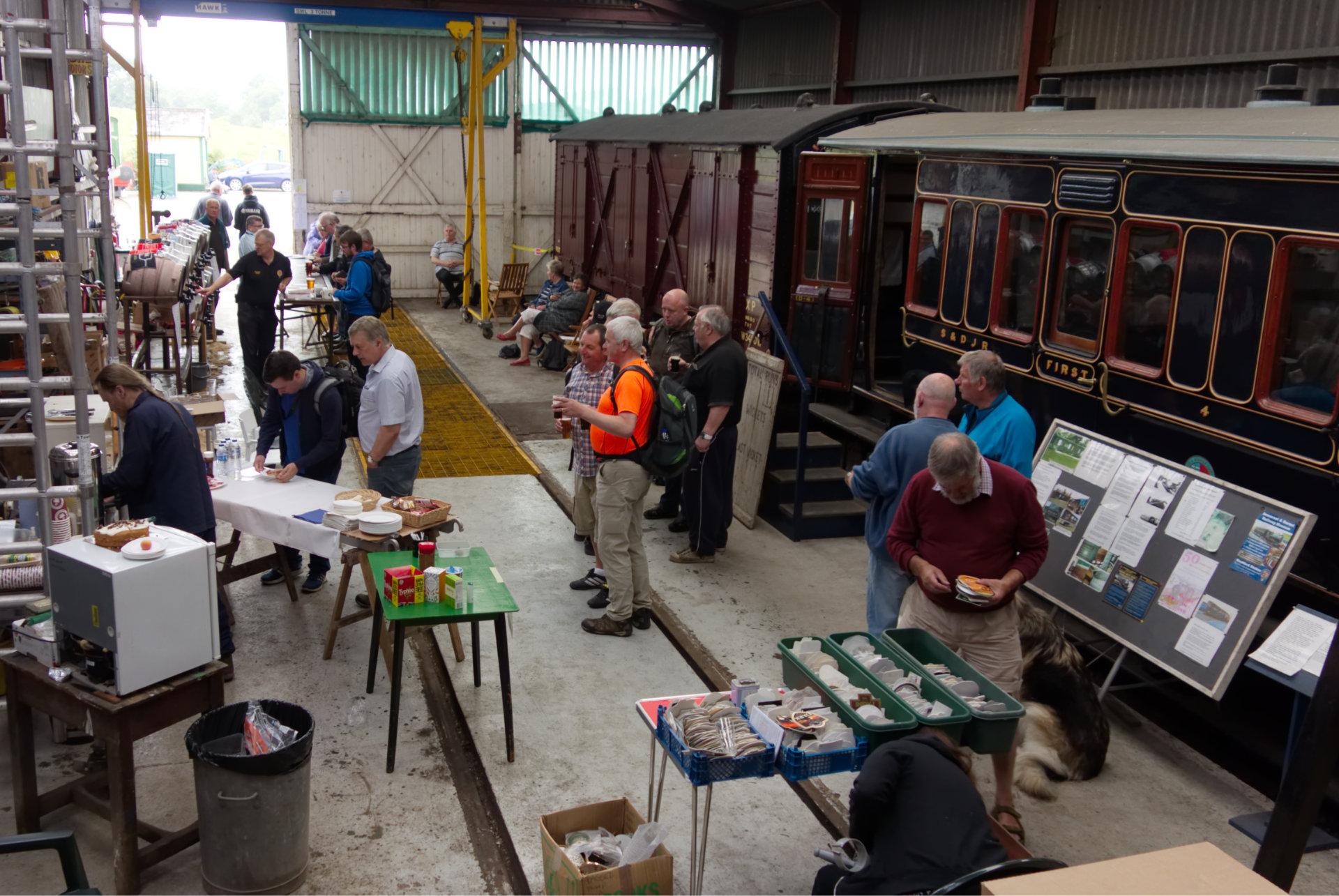 The 2018 Beer Festival, held in the workshops at Washford.