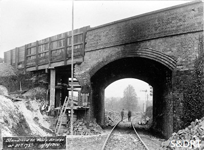 Bridge 200 at Blandford being widened in March 1900.
