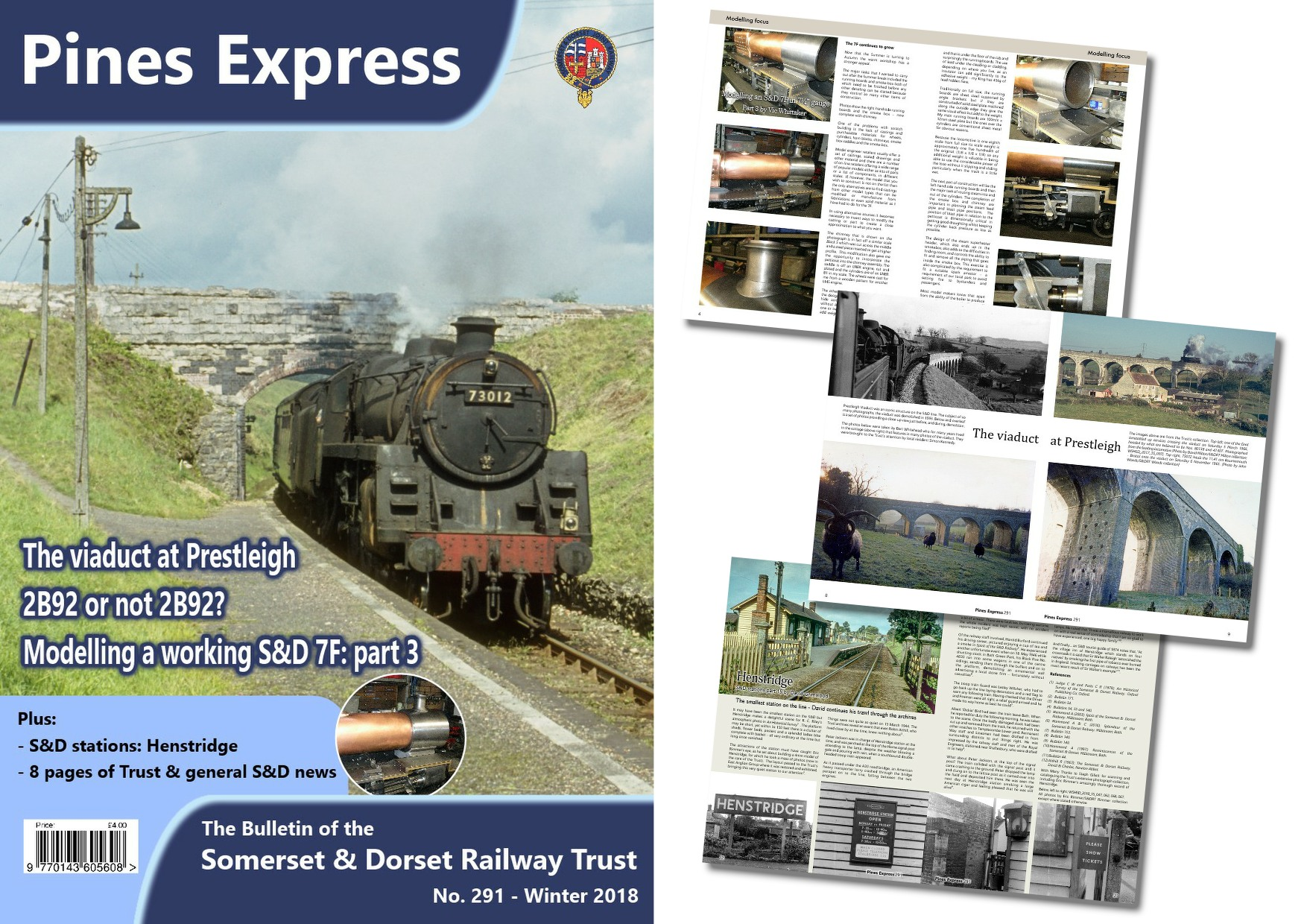 Pines Express issue 291 and some of the pages inside this issue.