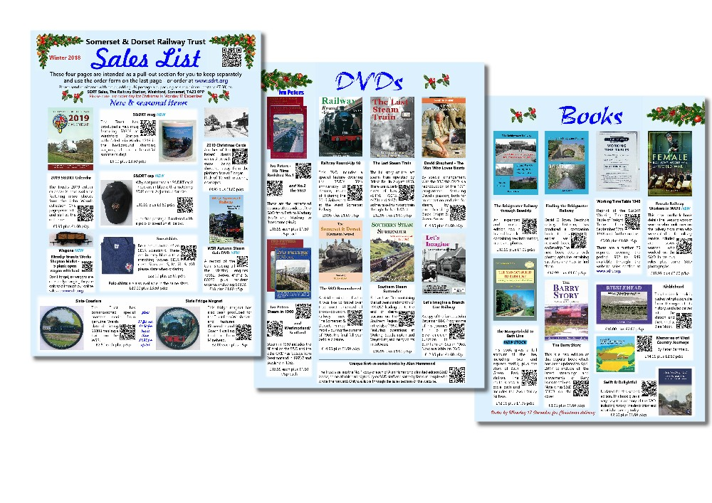The sales list which will be added to every copy of our Winter magazine.