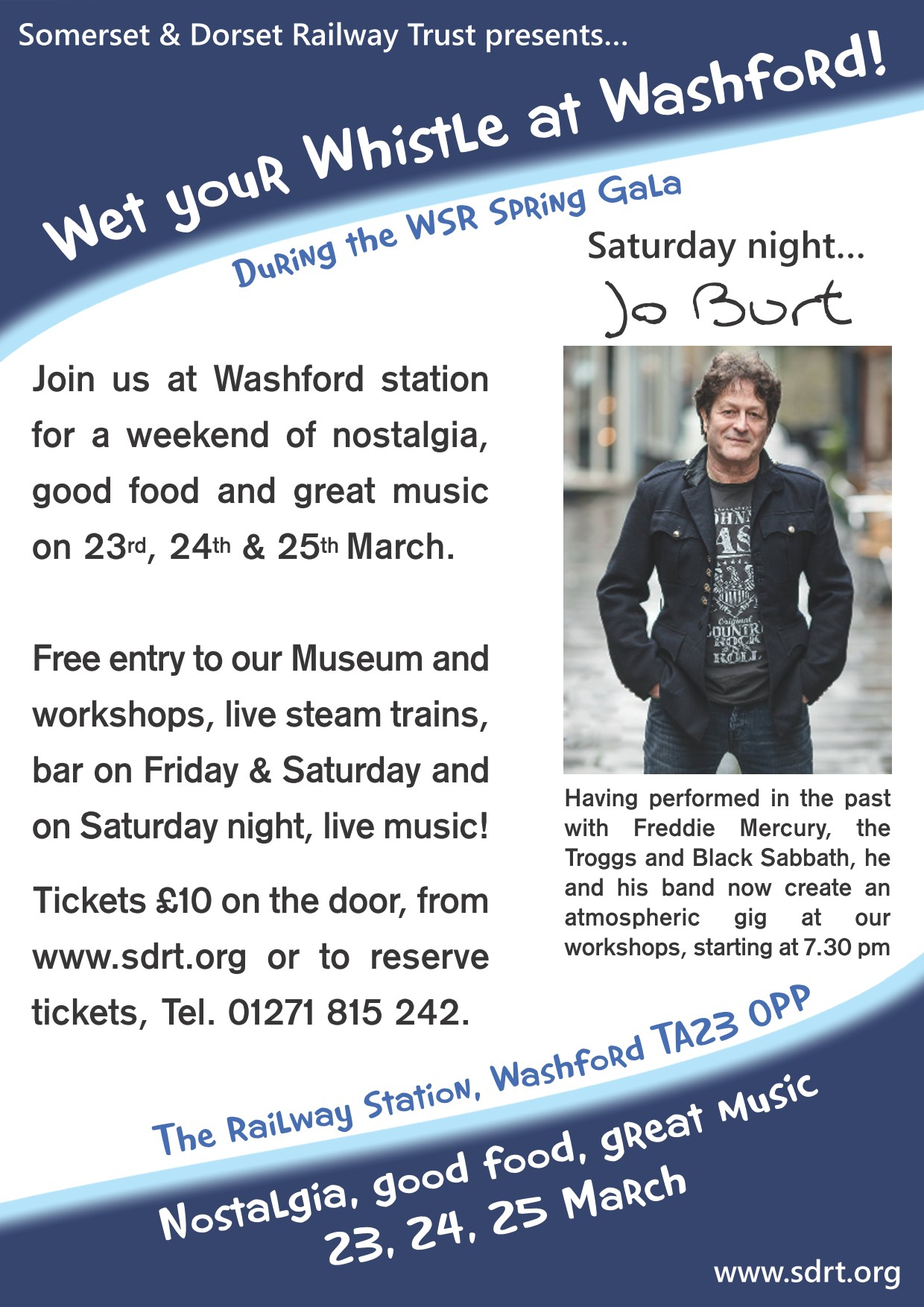 Wet your Whistle at Washford during the WSR Spring Gala!