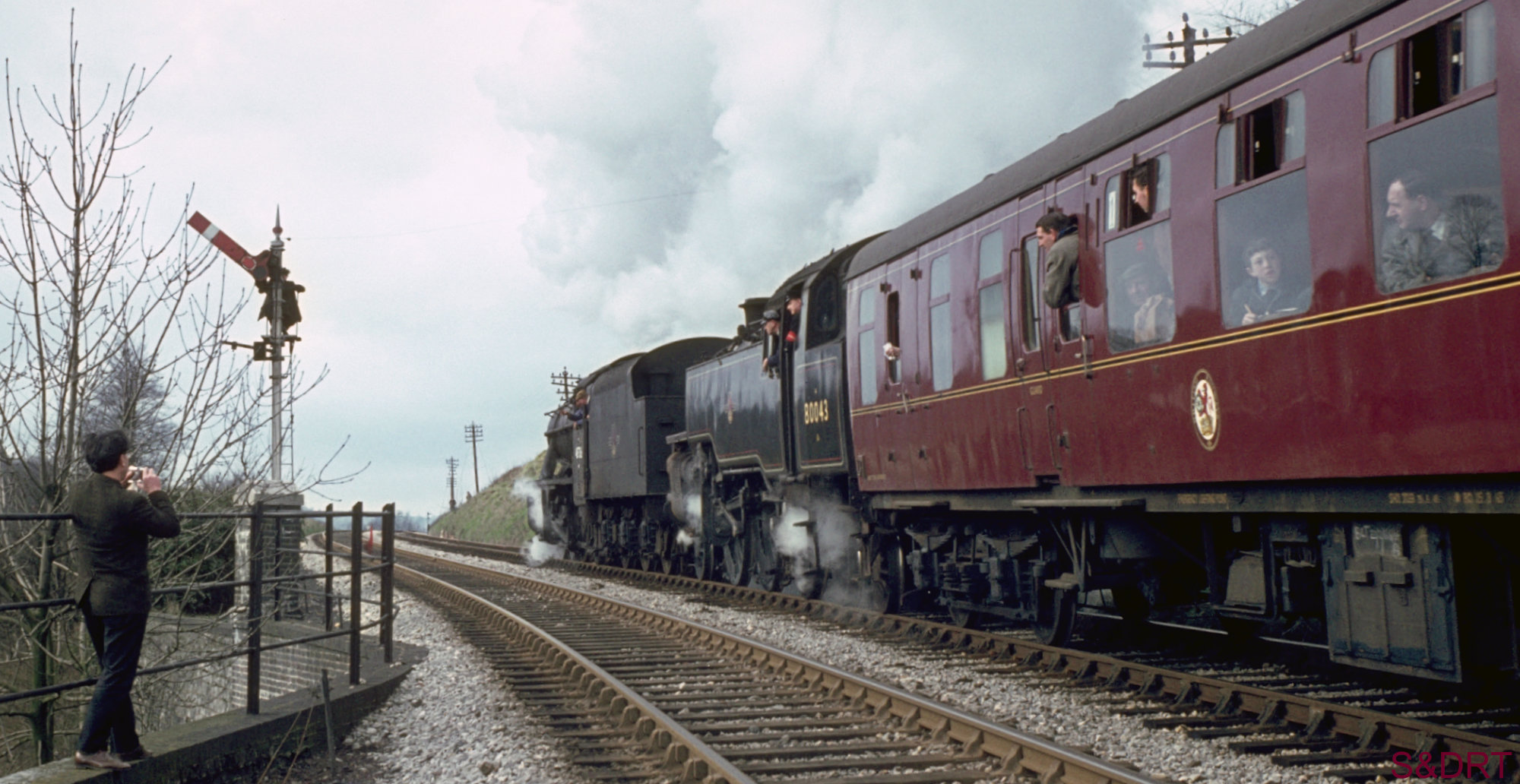 Somerset & Dorset Railway. One of the final weekend special services near Radstock - part of our extensive S&D photo collection.